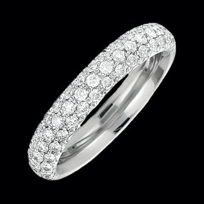 Pave Diamond Ring Studded Mounts In Platinum Amp White Gold
