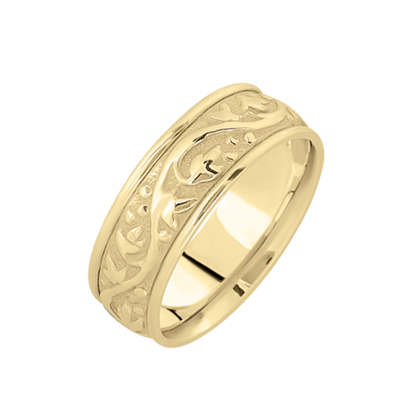 Hand Crafted Antique Scroll Wedding Band