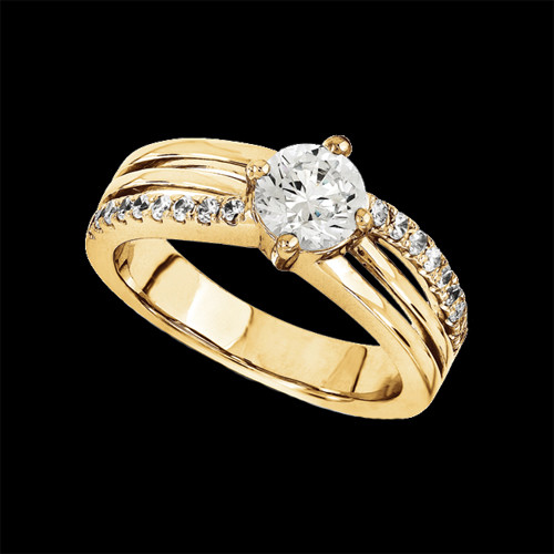 Diamond Split Band Engagement Ring