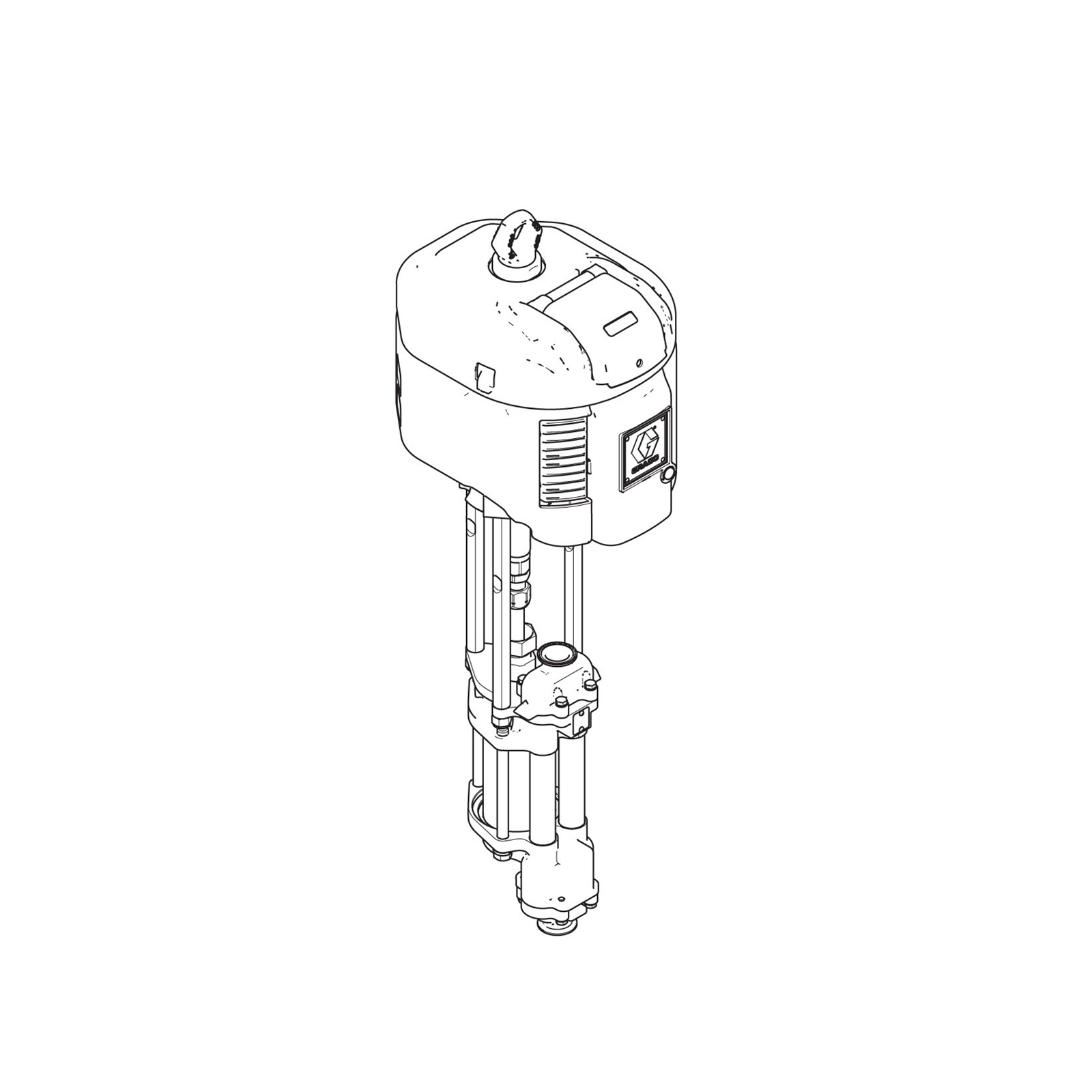 High-Flo 4-Ball Pump, CS, 3:1, Low Noise Exhaust, DataTrak