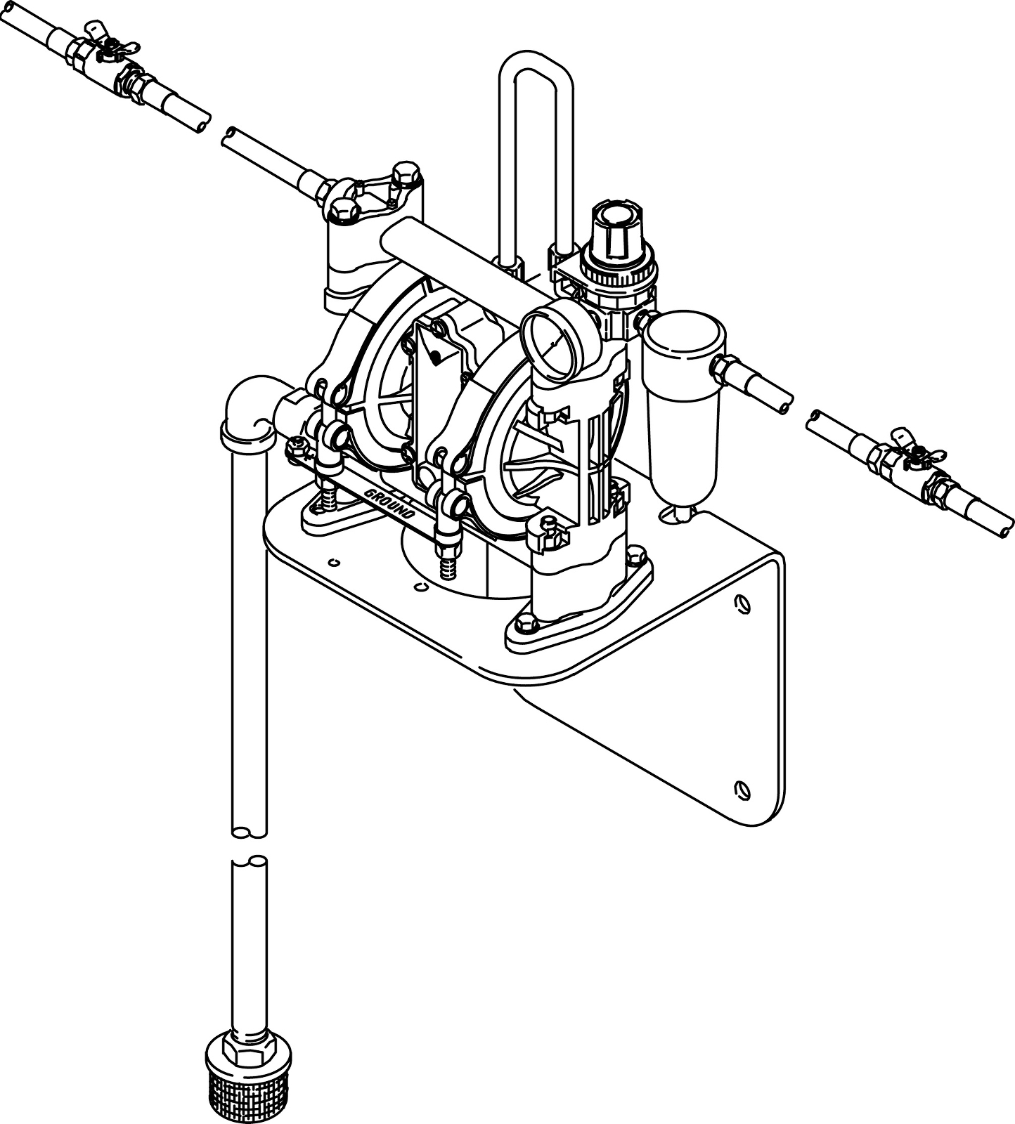 hight resolution of husky 307 series pre mixed windshield wash solvent and coolant dispense diaphragm pump package