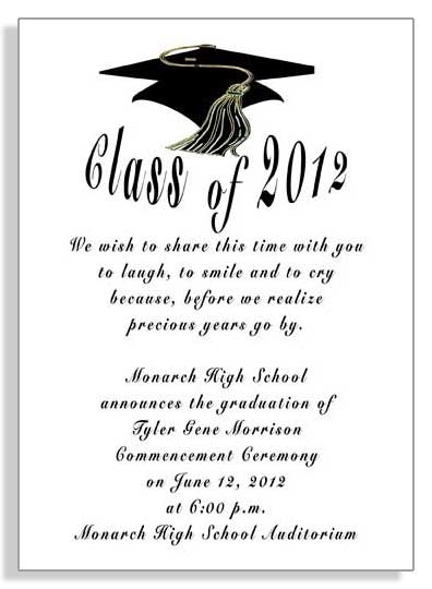 samples of graduation invitation