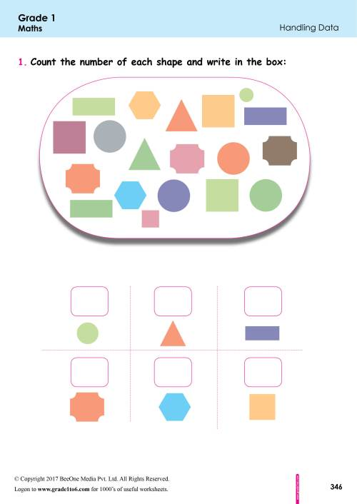 small resolution of Data Handling Worksheets for First Grade