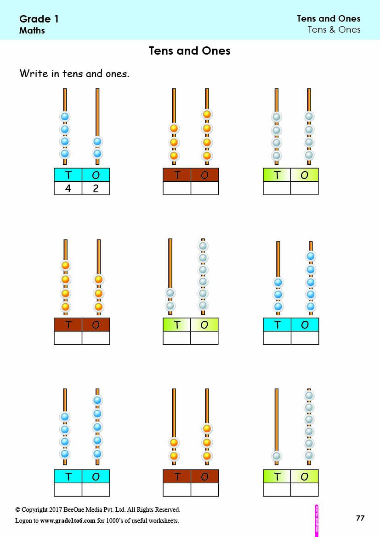 medium resolution of First Grade  Class 1 Tens \u0026 Ones Worksheets grade1to6.com