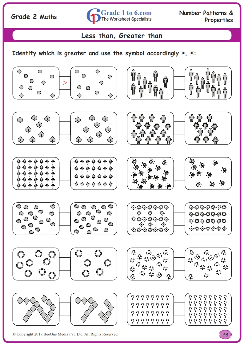 hight resolution of Less than \u0026 Greater than Worksheets www.grade1to6.com