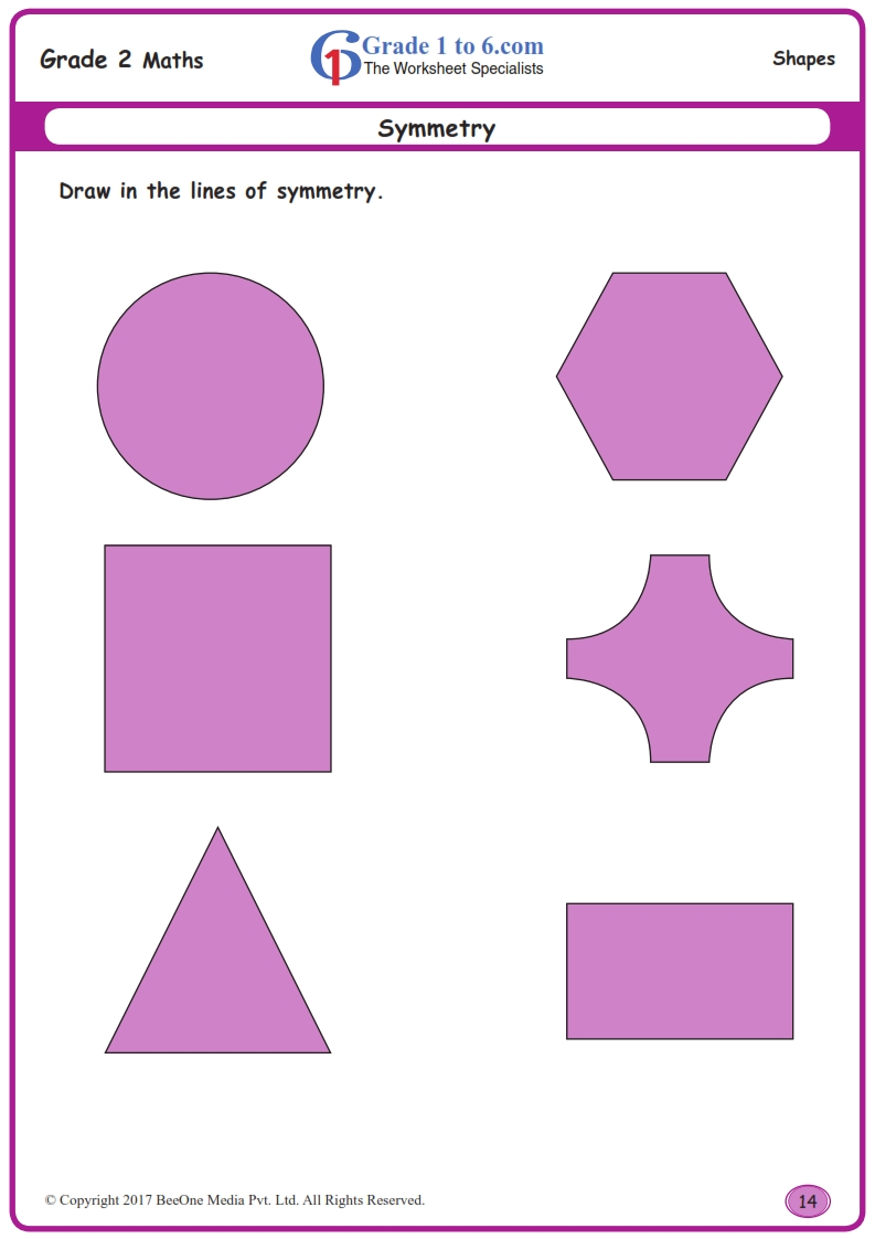medium resolution of Drawing Lines of Symmetry Worksheets www.grade1to6.com