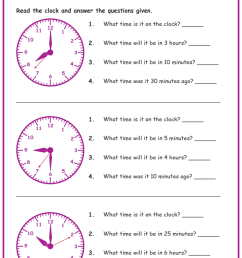 Word Problems in Time Worksheets www.grade1to6.com [ 1122 x 793 Pixel ]