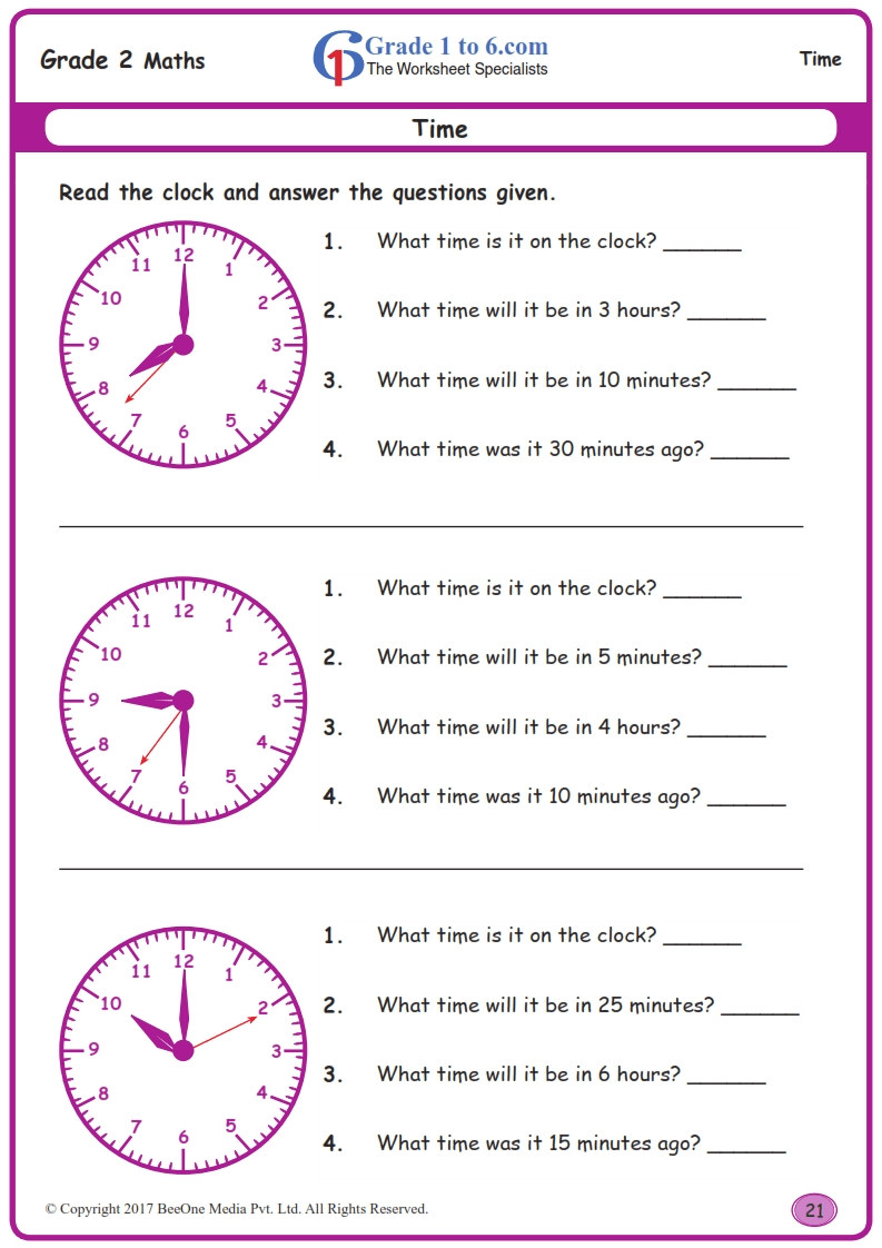 hight resolution of Word Problems in Time Worksheets www.grade1to6.com
