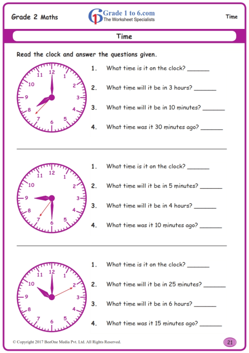 small resolution of Word Problems in Time Worksheets www.grade1to6.com