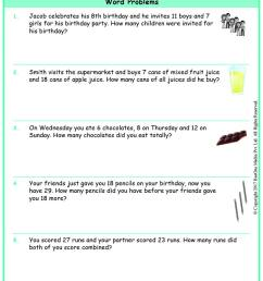 Grade 3 Addition Multi-Step Word Problems Worksheets www.grade1to6.com [ 1170 x 827 Pixel ]