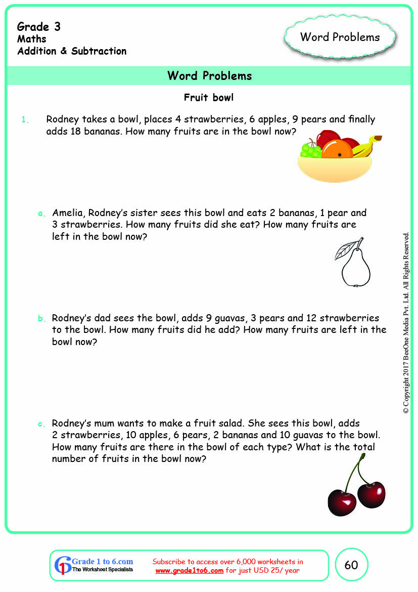 medium resolution of Grade 3 Addition Multi-Step Word Problems Worksheets