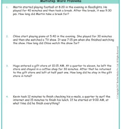 Time Word Problems Grade 3 Worksheets www.grade1to6.com [ 1122 x 793 Pixel ]