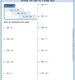 2 Digit Division Worksheets Math   Printable Worksheets and Activities for  Teachers [ 1754 x 1239 Pixel ]