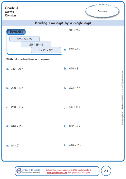 small resolution of 2 Digit Division Worksheets Math   Printable Worksheets and Activities for  Teachers