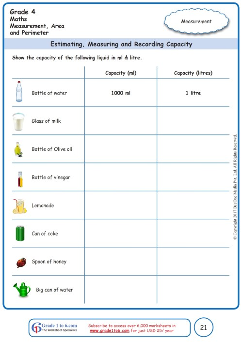 small resolution of Measuring Terms Worksheet   Printable Worksheets and Activities for  Teachers