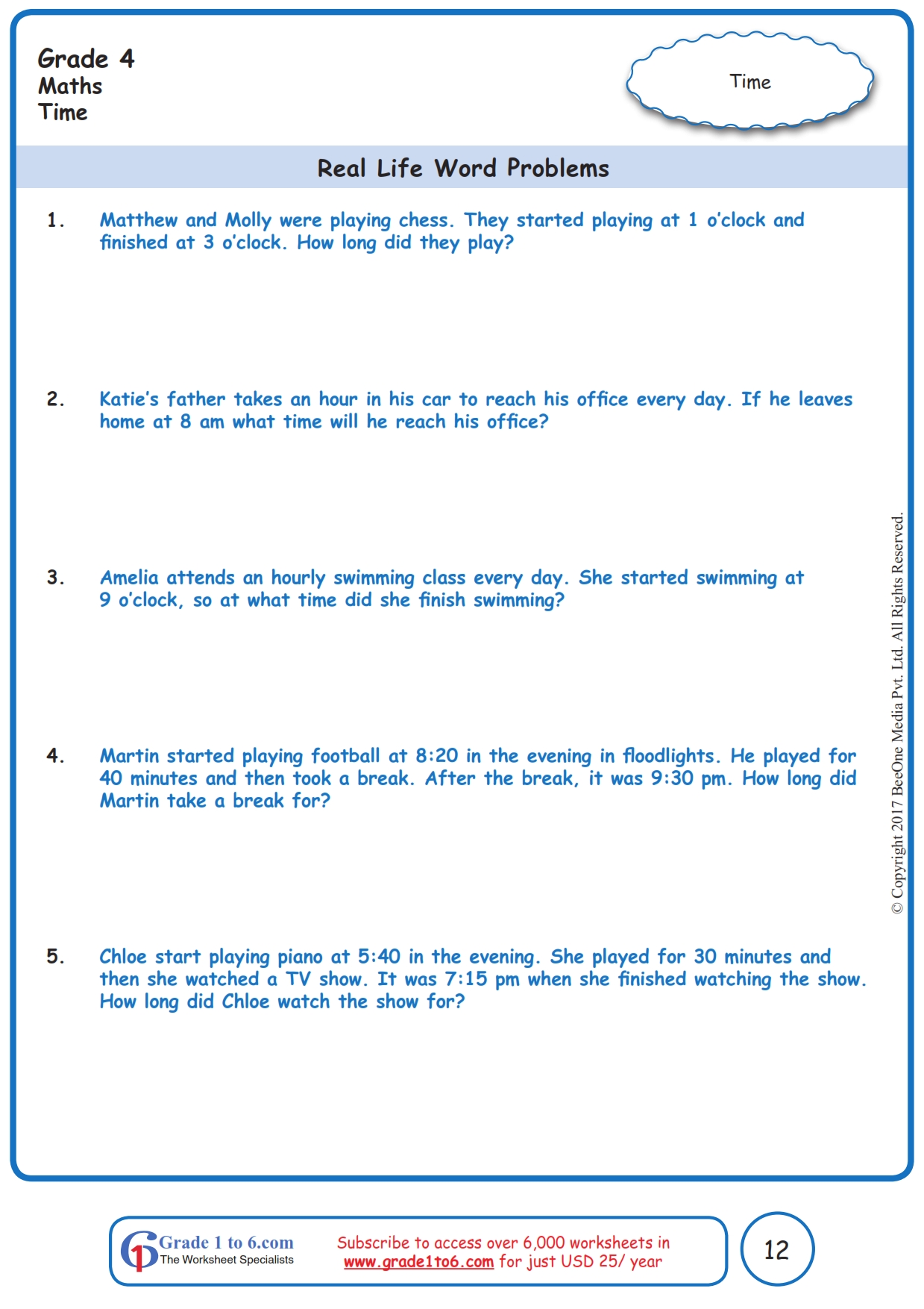 hight resolution of Telling Time Word Problem Worksheets   Printable Worksheets and Activities  for Teachers