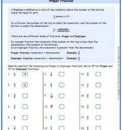 Grade 5 Proper to Improper Fraction Worksheets www.grade1to6.com [ 2339 x 1654 Pixel ]