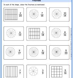 Grade 5 Fractions Identification Worksheets www.grade1to6.com [ 2339 x 1654 Pixel ]
