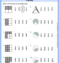 Grade 5 Fraction of Shaded Area Worksheets www.grade1to6.com [ 2339 x 1654 Pixel ]