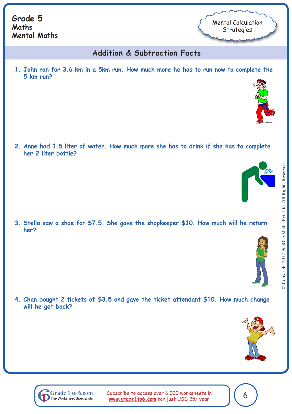 hight resolution of Grade 5 Mental Math Addition Worksheets www.grade1to6.com