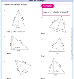 Area of Triangles Worksheets  Grade 5  www.grade1to6.com [ 1754 x 1239 Pixel ]