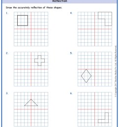 Grade 5 Reflection of Shapes Worksheets www.grade1to6.com [ 1754 x 1239 Pixel ]