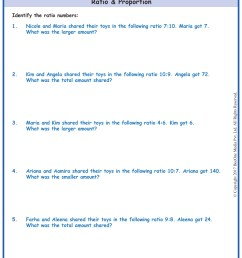Grade 5 Ratio \u0026 Proportion Word Problems www.grade1to6.com [ 1754 x 1239 Pixel ]
