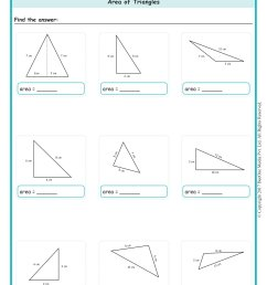 Area of a Triangle Worksheets Grade 6 www.grade1to6.com [ 2339 x 1654 Pixel ]