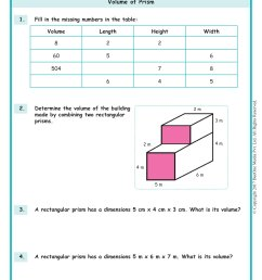 Volume of a Rectangular Prism Worksheets www.grade1to6.com [ 2339 x 1654 Pixel ]