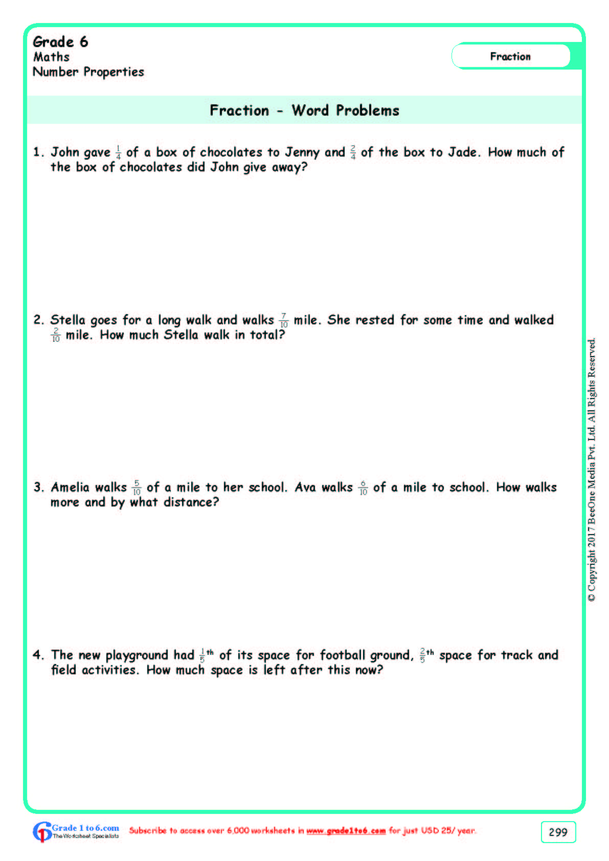 hight resolution of Grade 6 Word Problems Worksheets www.grade1to6.com