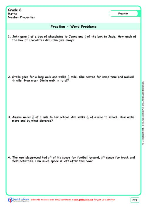 small resolution of Grade 6 Word Problems Worksheets www.grade1to6.com