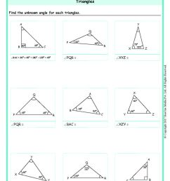 Angles of a Triangle Worksheets Grade 6 www.grade1to6.com [ 1683 x 1191 Pixel ]
