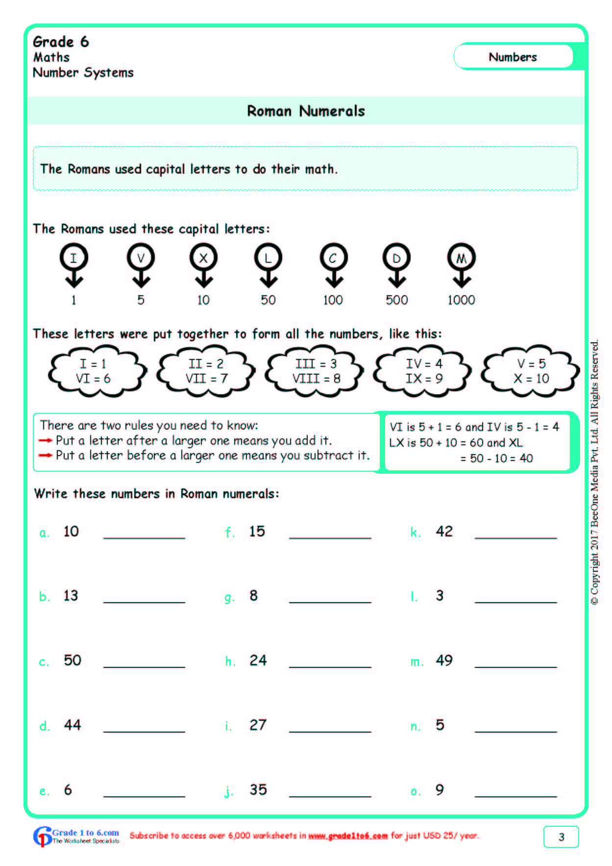 Free Math Worksheets For Grade 6 Class 6 Ib Cbse Icse K12