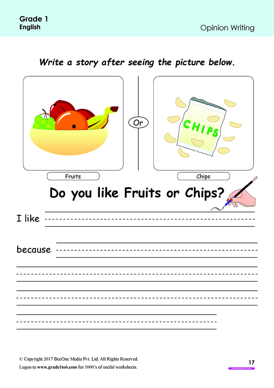 hight resolution of Grade 1 Class 1 English worksheets for Reading