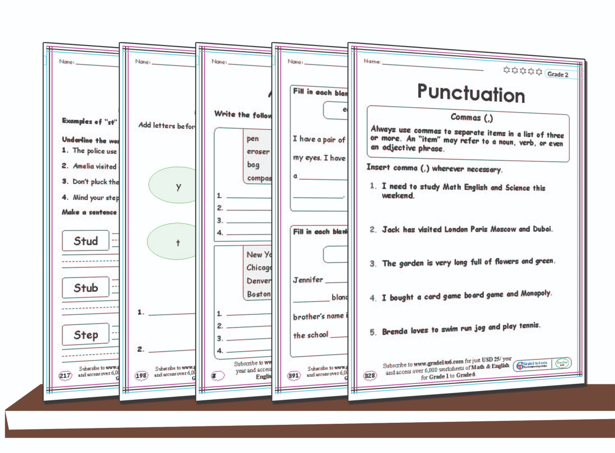 hight resolution of 2nd Grade free English Worksheets   www.grade1to6.com