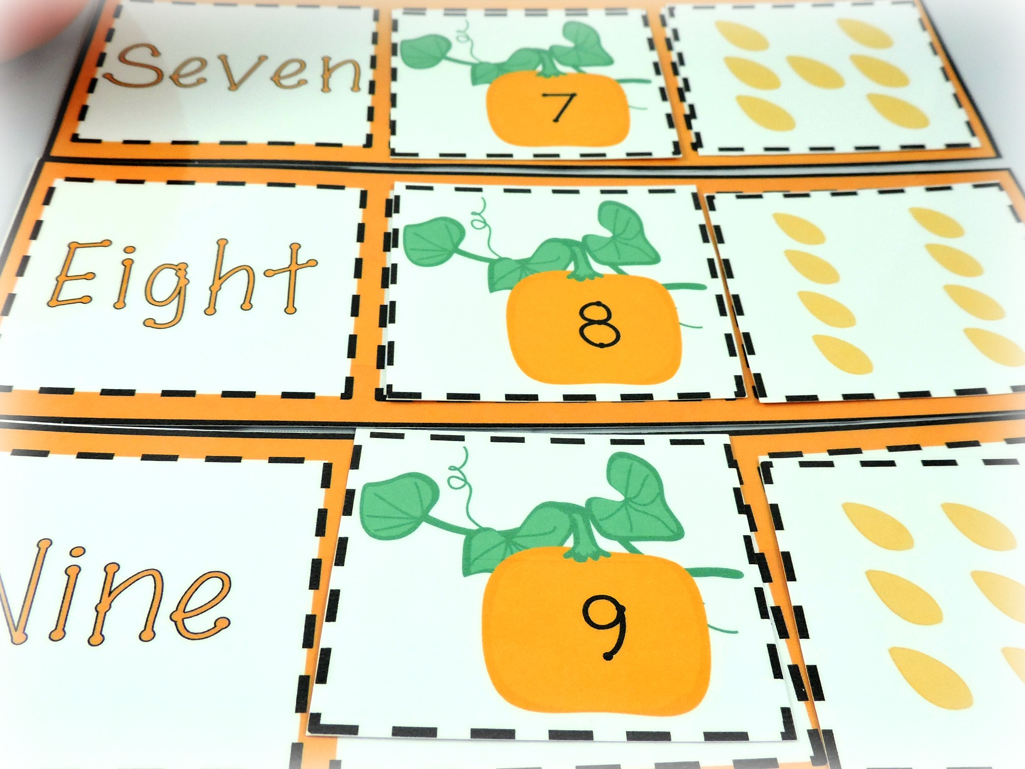 Pumpkin Seed Activity For Building Early Math Skills
