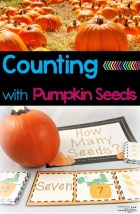 Who doesn't love free printables. This pumpkin seed math activity is perfect for practicing counting with your kids. I love the idea of using real pumpkin seeds with it too!