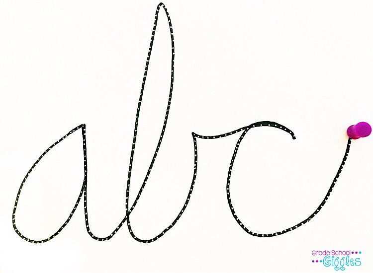 Letters Cursive Animated