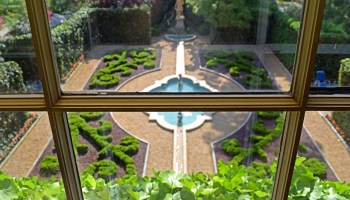 formal garden parterre at Hillwood Estate, Museum, & Gardens in Washington, D.C.