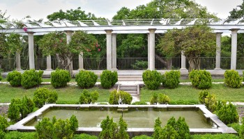The Sunken Garden & Pergola at Historic Spanish Point in Osprey, Florida
