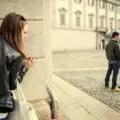 Jelous Woman Stalking A Couple