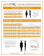 size color charts gradshop