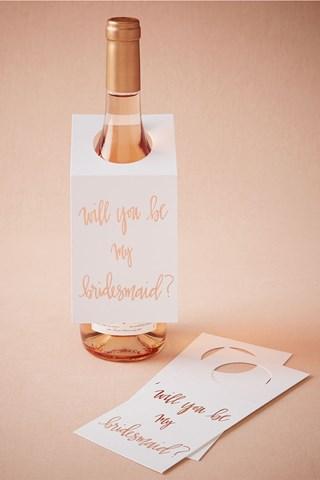 бутилка вино за най-добрата шаферка