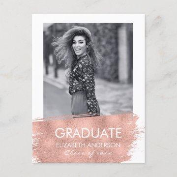 rose gold foil graduation
