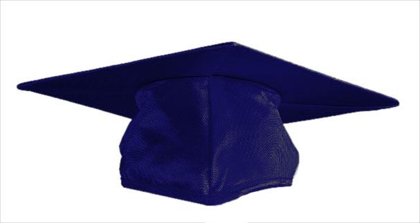 navy blue graduation cap