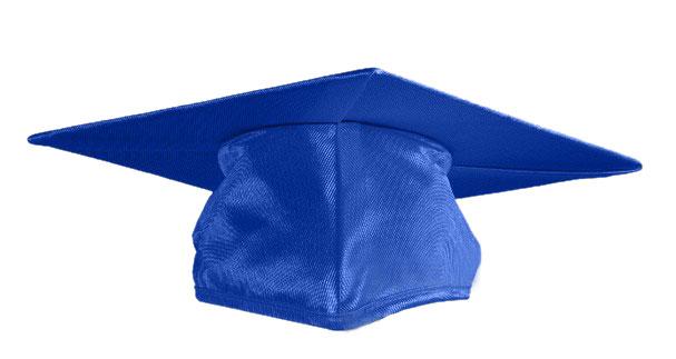 royal blue graduation cap