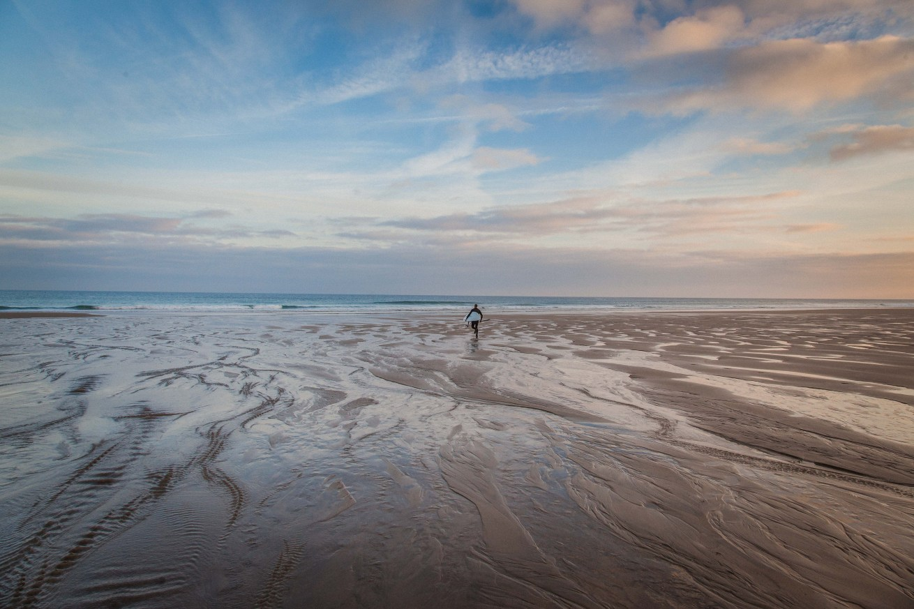 The lone surfer at Porthtowan, Cornwall
