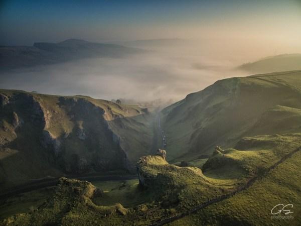 Winnats Pass drone shot