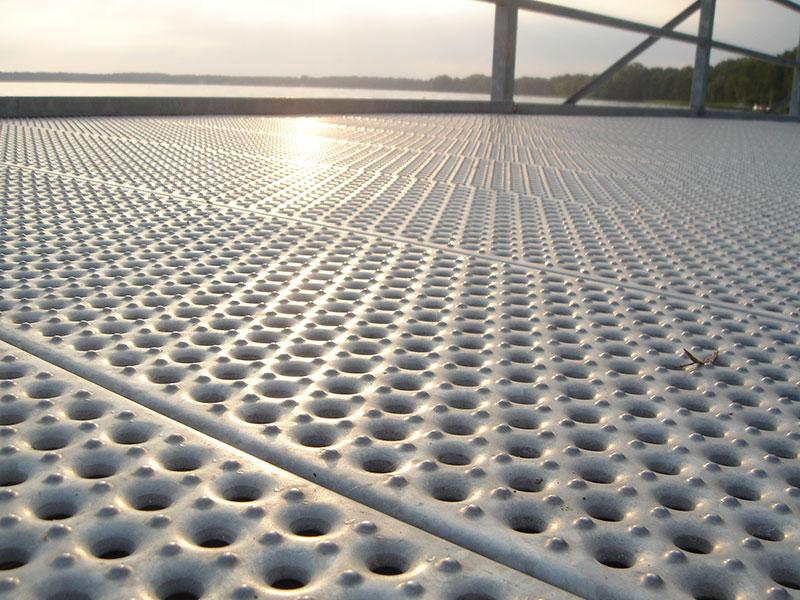 Marina Antislip Metal Decking  Graepel Perforators