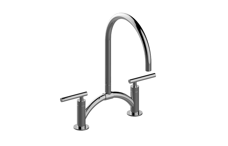 Sospiro Contemporary Bridge Kitchen Faucet :: Kitchen :: GRAFF